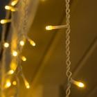 """Гирлянда """"Бахрома"""" 3 х 0.6 м , IP44, УМС, белая нить, 160 LED, свечение тёплое белое, 220 В - Фото 2"""