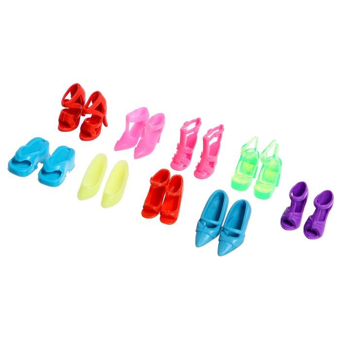 Аксессуары для куклы «Набор обуви» 9 пар