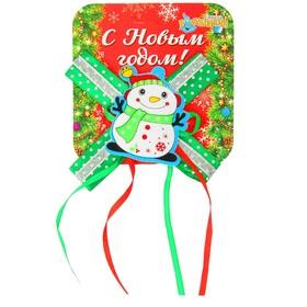 Карнавальный зажим «Снеговик с бантиком» Ош