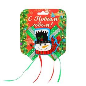 Карнавальный зажим «Снеговичок с бантом» Ош