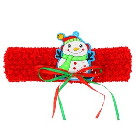 Карнавальная повязка-резинка «Снеговичок» Ош