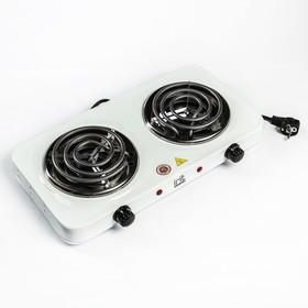 Плитка электрическая Irit IR-8120, 2000 Вт, 2 конфорки, белая