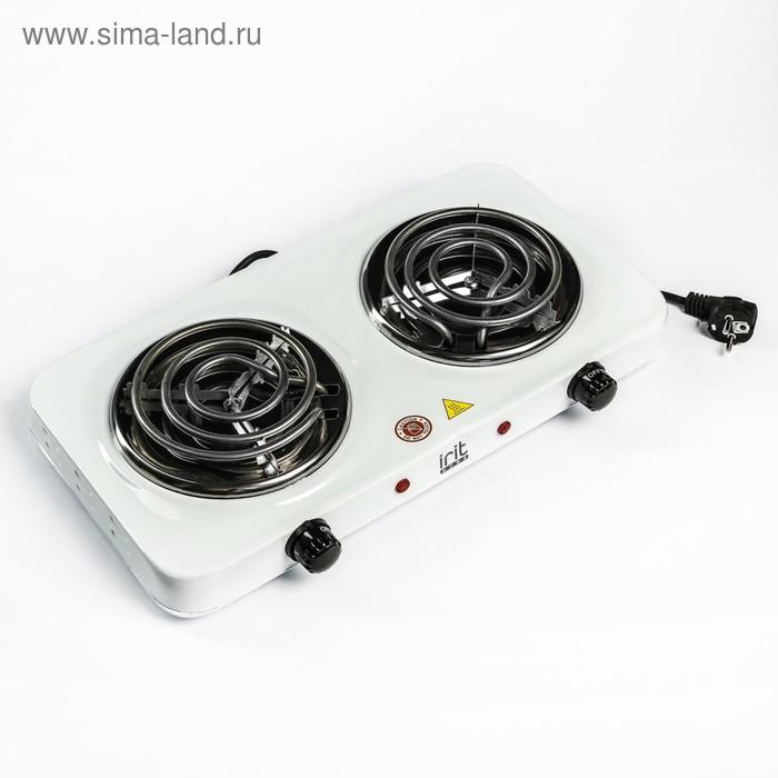Плитка электрическая IR-8120, 2000 Вт, 2 конфорки, белая