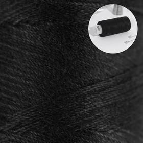 Нитки 40ЛШ, 200 м, цвет чёрный №6818 Ош