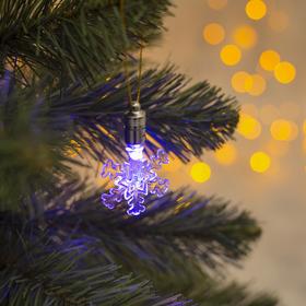 Подвеска световая 'Снежинка малая' 7см., (батарейки в комплекте) 1 LED, RGB Ош