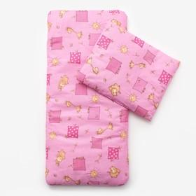 Комплект в коляску (матрасик 40*80 см, подушка 30*40 см) для девочки МИКС Ош