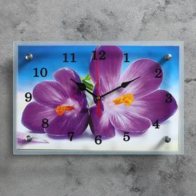 """Часы настенные, серия: Цветы, """"Сиреневые цветы"""", 20х30  см, микс"""