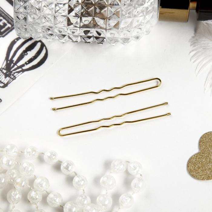 Шпильки для волос Золотой цвет набор 10 шт.