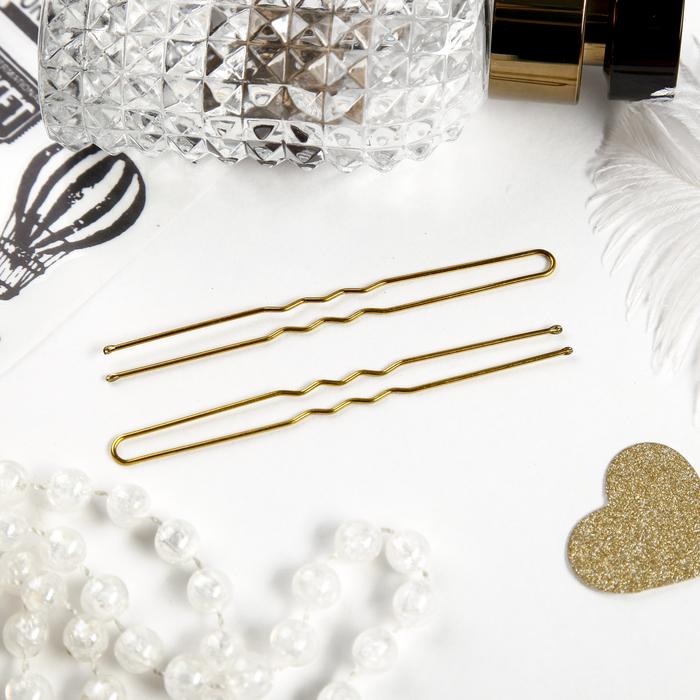 Шпильки для волос Золотой цвет набор 10 шт