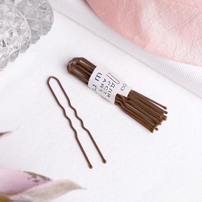 Шпильки для волос Бронзовый цвет набор 10 шт.