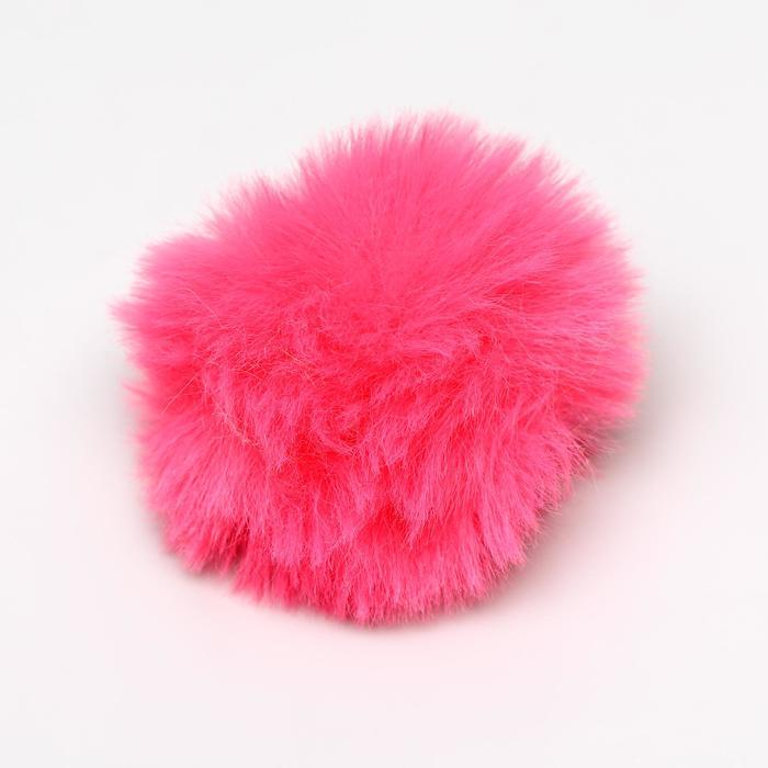 Игрушка для кошек Меховой шарик, 5 см, искусственный мех, микс цветов