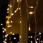 """Гирлянда """"Бахрома"""" 3 х 0.6 м , IP44, прозрачная нить, 160 LED, свечение тёплое белое, 220 В - Фото 2"""