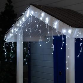 "Гирлянда ""Бахрома"" уличная, УМС, 3 х 0.6 м, 3W LED-160-220V, свечение белое"