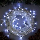"""Гирлянда """"Нить"""" 10 м , IP44, УМС, белая нить, 100 LED, свечение белое, 220 В - Фото 1"""