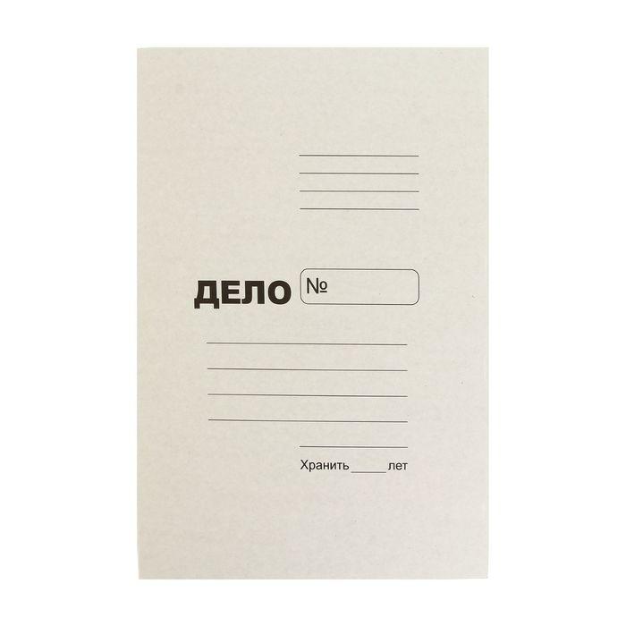 Папка-обложка Дело А4, плотность 370 гм2, картон, белая на 300 листов