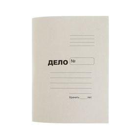 Папка-обложка 'Дело' А4, плотность 250 г/м2, картон, белая (на 300 листов) Ош