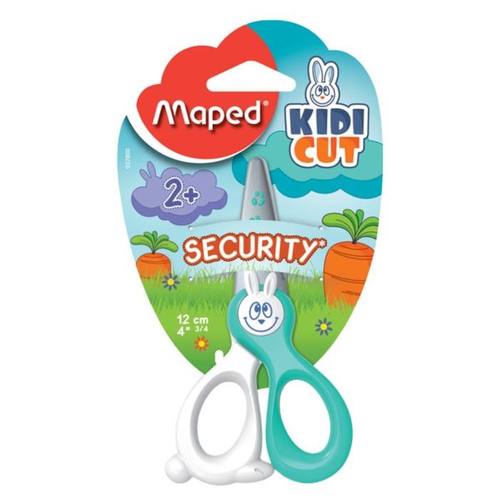 Ножницы детские 12 см, Kidi Cut, лезвия из стекловолокна, с европодвесом, МИКС