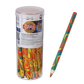 Карандаш с многоцветным грифелем 5.6 мм, Koh-I-Noor 3405 Magic, утолщённый, L=175 мм Ош