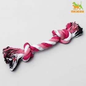 Игрушка канатная '2 узла' малая, 20 г, до 20 см, микс цветов Ош