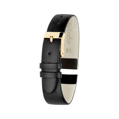 Ремешок для часов, женский, 14 мм, натуральная кожа, чёрный - Фото 1