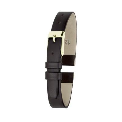 Ремешок для часов, женский, 12 мм, натуральная кожа, коричневый - Фото 1
