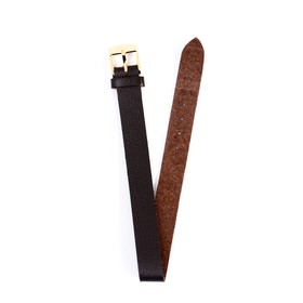 Ремешок для часов, женский, 12 мм, натуральная кожа, коричневый