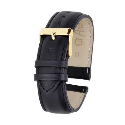 Ремешок для часов, мужской, 18 мм, черный