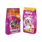 Сухой корм Whiskas для котят, индейка/морковь/молоко, подушечки, 1,9 кг
