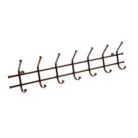 Вешалка настенная на 7 крючков «Норма-7», 70,5×16,5×8 см, цвет медный антик