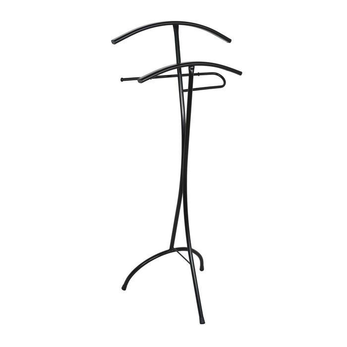 Вешалка-стойка «Слуга», 47×36×106 см, цвет чёрный