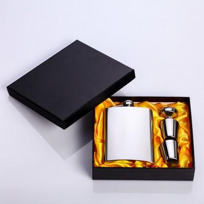 """Подарочный набор """"Стриктен"""" 6 в 1: фляжка 240 мл, 2 рюмки, воронка - Фото 1"""