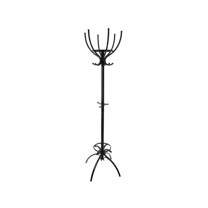 Вешалка напольная «Престиж», 62×62×189 см, цвет чёрный