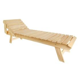 Лежак с регулируемым подголовником, 200×55×44,5см, из липы, 'Добропаровъ' Ош