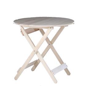 Стол складной, 80×80×75см, из липы, круглый Ош