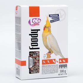 Корм полнорационный LoLo Pets для средних попугаев, 500 г.