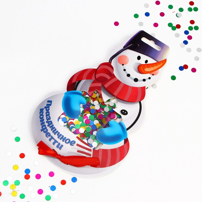 Конфетти Снеговик, кругляши цветные, 14 г