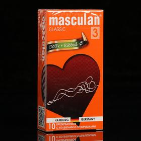 Презервативы «Masculan» 3 classic, с пупырышками и колечками, 10 шт