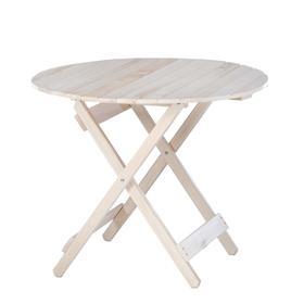 Стол складной, 90×90×75см, из липы, круглый Ош