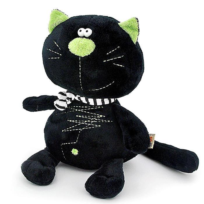 Мягкая игрушка «Кот Батон», цвет чёрный, 20 см