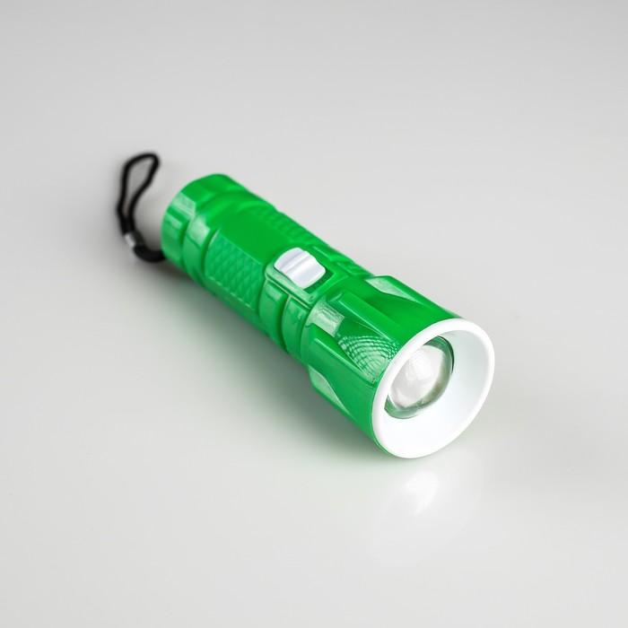 Фонарь ручной Грани, 1 LED, zoom, микс, 9.6х3.5х3.5 см