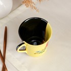"""Кружка """"Ягоды"""", жёлто-коричневая, деколь, 400 мл, микс - Фото 4"""