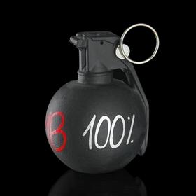 """Держатель для карточек и фото """"Лимонка. 100% bomb"""" черный"""