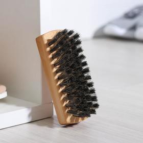 Щетка для обуви 59 пучков, натуральный волос, цвет черный Ош