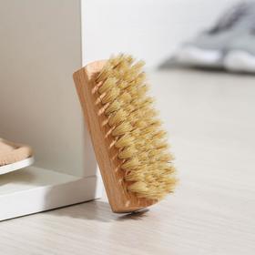 Щетка для обуви 59 пучков, натуральный волос, цвет белый Ош