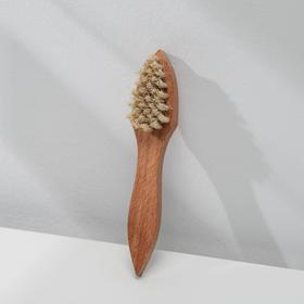 Щётка для обуви для нанесения крема, 17,5×4 см, 32 пучка, натуральный волос Ош