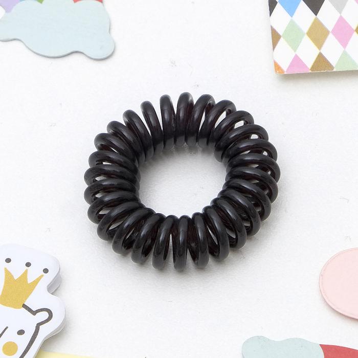 Резинка для волос Пружинка, чёрная