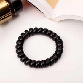Резинка для волос 'Пружинка', чёрная, большая Ош