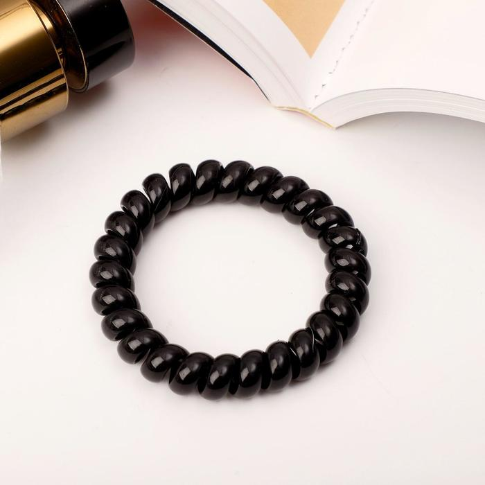 Резинка для волос Пружинка, чёрная, большая