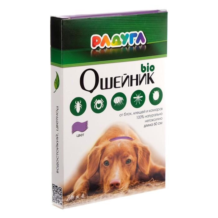 """Био-ошейник для собак """"Радуга"""" от блох и клещей (длина 60 см)"""