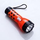 Фонарь  ручной, 1 LED, ручка в цветочек, от батареек в комплекте, микс, 10х3.5х3.5 см
